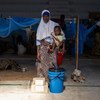 Centro de acolhimento temporário em Pemba, Moçambique