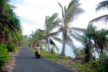 Tuvalu is particularly susceptible climate change.