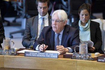 Специальный посланник Генсека ООН по Йемену Мартин Гриффитс выступил сегодня в Совбезе.