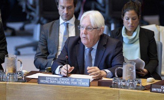 Martin Griffiths, Envoyé spécial du Secrétaire général pour le Yémen, informe le Conseil de sécurité des Nations Unies de la situation dans le pays. (15 mai 2019)