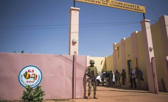 萨赫勒五国集团联合部队位于马里中部莫普提的总部。 (2017年资料图片)