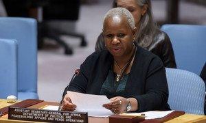 Secretária-geral assistente para África, Bintou Keita, no Conselho de Segurança