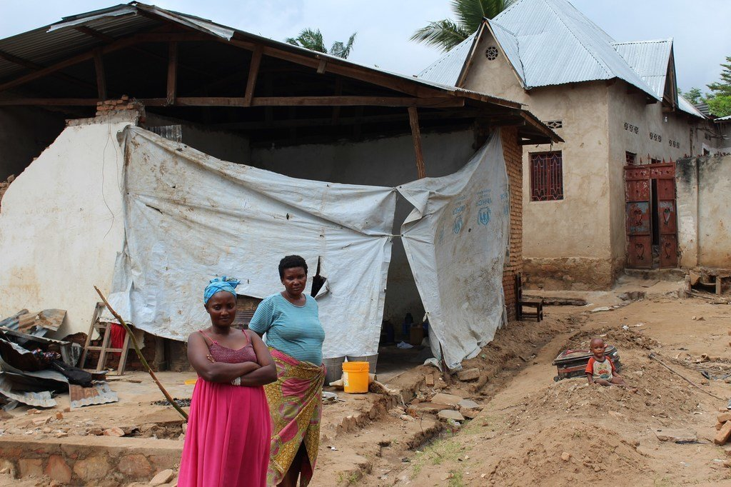 Vítimas de desastres naturais na província de Rumonge, no Burundi (28 de novembro de 2018)
