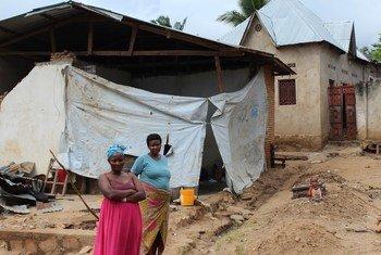 Vítimas de desastres naturais na província de Rumonge, no Burundi (28 de novembro de 2018).