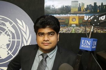 Padmanaban Gopalan, Founder of No Food Waste, at UN News studios in UN Headquarters in New York.