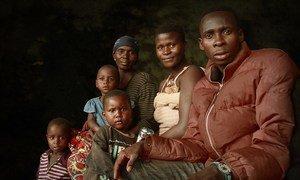 Wakimbizi waliorejeshwa makwao kutoka Tanzania wakiwa katika kituo cha muda cha Mabanda, jimbo la Makamba, Burundi-24 April 2018