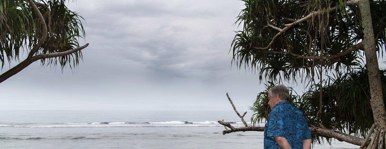 Генеральный секретарь ООН Антониу Гутерриш на острове Тувалу