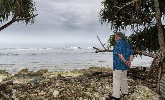 联合国秘书长古特雷斯访问太平洋岛国图瓦卢。