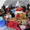 Внутренние переселенцы в Сирии, в палатке, предоставленной турецкой организацией Красного Полумесяца. 9 мая 2019 года.