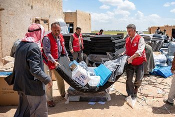 Lifesaving core relief items provided by UNHCR help tens of thousands of internally displaced and newly returning families to Syria.