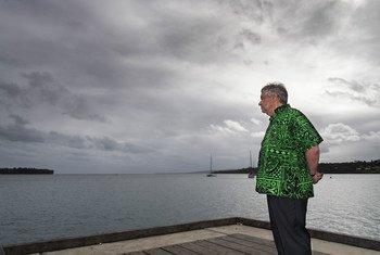 पैसिफ़िक द्वीपीय देशों की यात्रा के अंतिम पड़ाव में महासचिव गुटेरेश वानुआतु पहुंचे.