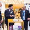 Eventos começaram com a entrega de dezenas de livros à biblioteca da organização, em Nova Iorque