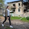 Fourteen-year-old Sonia plans her walks well in advance around the small town of Novotoshkivske in Ukraine because it is still littered with shrapnel and unexploded ordinance.