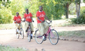 One girl One bike,  an initiative of a Non governmental organisation in Tanzania which aims to provide bicycles to school girls to ensure mobility to and from school.