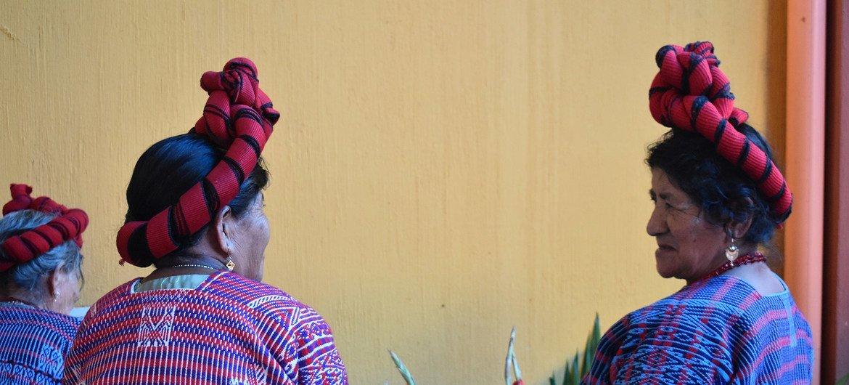 Kikundi cha wanawake wa Mayan Poqoman nchini Guatemala
