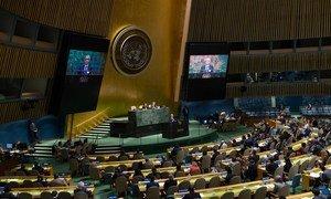 Assembleia Geral durante discussão sobre Arquipélago de Chagos