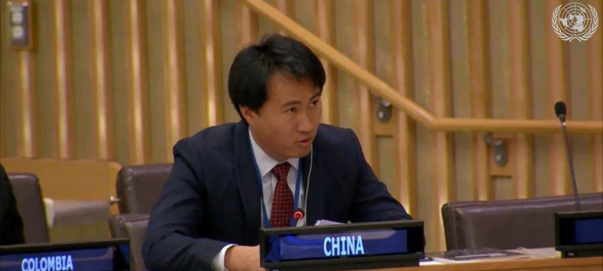 中国常驻联合国代表团负责行政与预算事务的官员傅丽衡