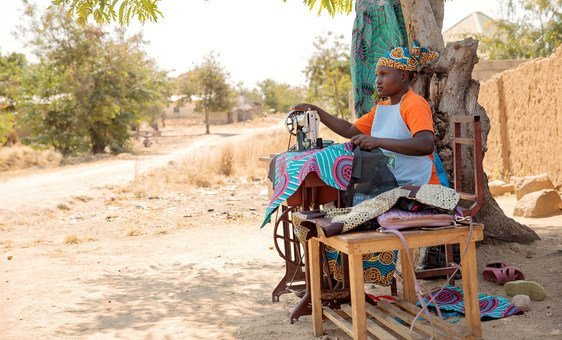Marie-Noelle, 22, is a single mother of three and a SGBV survivor. She is a member of the Association of Unified Women of Mokolo, a beneficiary of the Women Economic Empowerment programme.