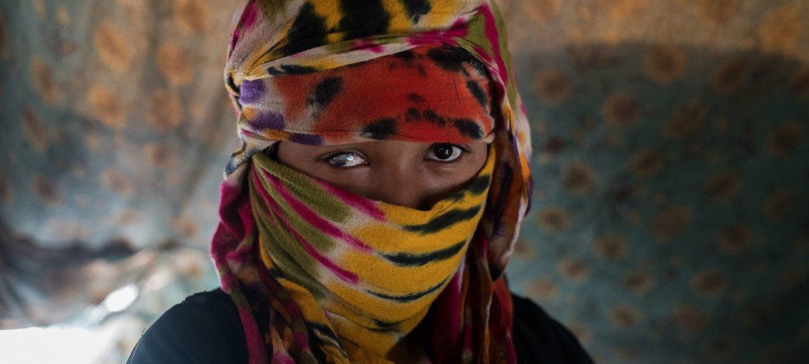 Jehan de 17 años es una desplazada interna de Yemen, ella fue abusada sexualmente y golpeada y por eso perdió su ojo.