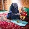 联合国儿童基金会一直帮助纳尔加斯(Nargas),确保她15个月大的女儿阿尔佐(Arzo)不会成为阿富汗许多营养不良的儿童之一。