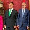 Слева направо: активистка Грета Тунберг, бывший губернатор Калифорнии Арнольд Шварценеггер, президент Австрии Александр Ван дер Беллен и Генеральный секретарь ООН Антониу Гутерриш