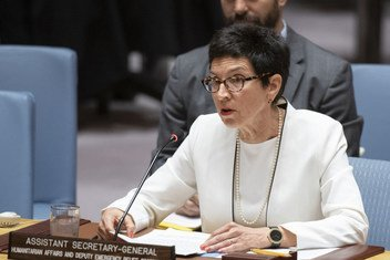 Координатор чрезвычайной помощи ООН Урсула Мюллер на заседании Совбеза по Сирии