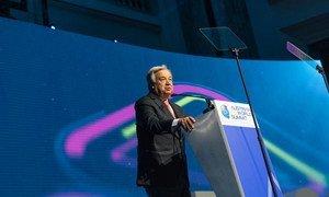 Secretário-geral António Guterres discursa na Cimeira Mundial Austríaca R20