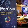 The third annual AI for Good Global Summit discusses the role of artificial intelligence (AI), including in advancing education, healthcare, social and economic equality and space research, Geneva, Switzerland.