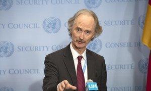 Enviado especial do secretário-geral das Nações Unidas para a Síria, Geir Pedersen.