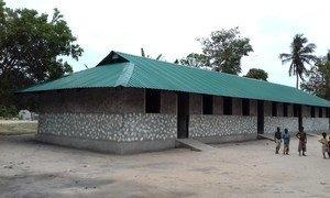 Escola no distrito de Namacurra, na província da Zambézia, em Moçambique.