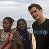 UNICEF Goodwill Ambassador and actor, Orlando Bloom, meets with youth volunteer activists in Beira, Mozambique. (28 May 2019)
