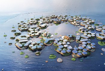 Плавающий город - искусственно созданная группа островов, свободно дрейфующая в океане