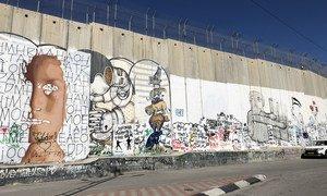 La barrière entre Israël et la Cisjordanie à Béthléem