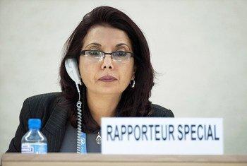 نجاة مجيد - المقررة الخاصة المعنية ببيع الأطفال وبغاء الأطفال واستغلال الأطفال في المواد الإباحية. 8 مارس/آذار 2012.