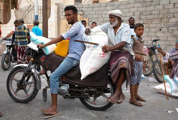 Residents of Hudaydah in Yemen are relying on food aid from the World Food Programme. (March 2019)