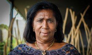 Leader of a group of of women facilitators in Guinea-Bissau, Francisca Vaz