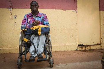 Utente do Centro de Acesso à Justiça em Bissau Velho, Joaquim Agostinho da Silva