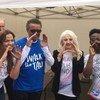Иорданская принцесса Дина Мирад, глава ВОЗ д-р Тедрос, мать Леди Гага, активистка Синтия Джерманотта и певец из Нигерии Кореде Белло.