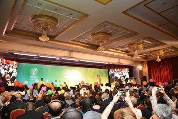 莫桑比克国际捐助方会议现场。