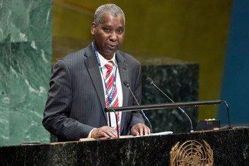 新当选的联合国大会第七十四届会议主席穆罕默德-班德。(2018年12月)