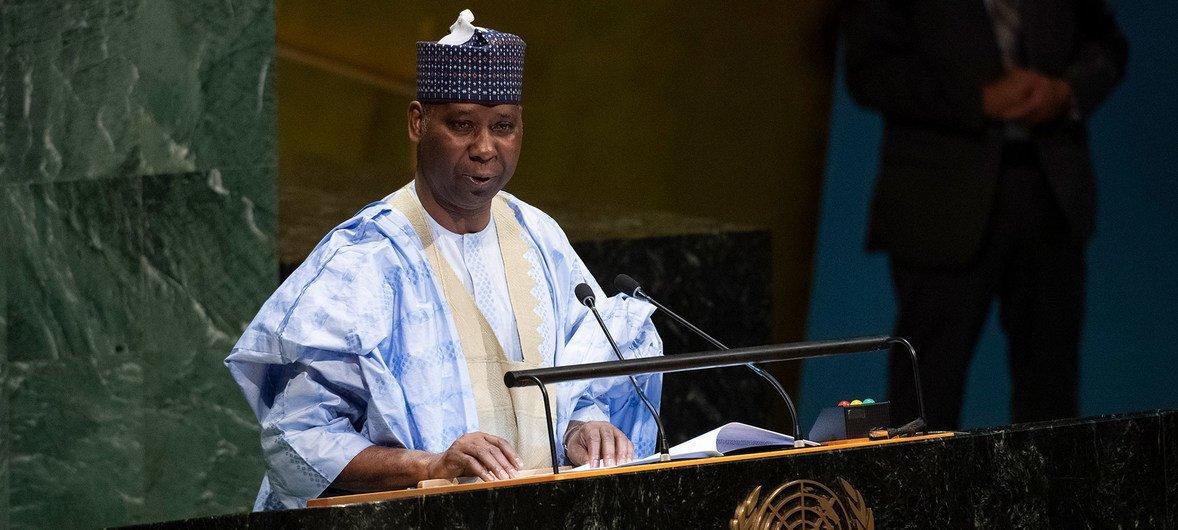 Tijjani Muhammad-Bande, élu Président de la 74e session de l'Assemblée générale des Nations Unies.
