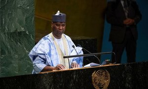Ambassador Tijjani Mohammad Bande, newly-elected President of the 74th session of the United Nations General Assembly. (4 June 2019)