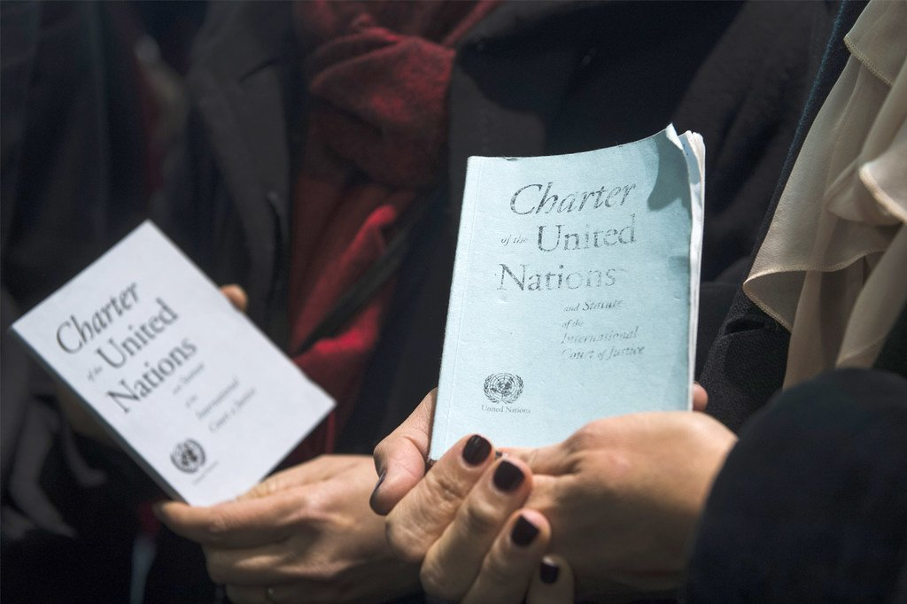 Photo : Charte de l'ONU