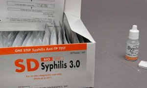 Syphilis is a curable sexually transmitted infection. (file)