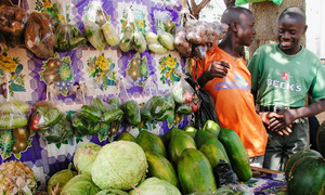 The Food and Agriculture Organization and World Health Organization are joining forces to assist countries to prevent, manage and respond to risks along the food supply chain. Pictured above is a marketplace in Kampala, Uganda.