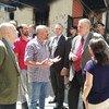 المنسق الخاص للأمم المتحدة في لبنان يان كوبيش برفقة مدير عام وكالة الأونروا في لبنان في زيارة لمخيّم المية ومية للاجئي فلسطين