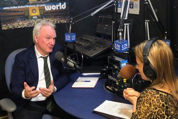 Matthias Schmale,  UNRWA General Director of Operations in Gaza, speaks to UN News in New York.
