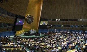 La Asamblea General elige a cinco miembros no permanentes del Consejo de Seguridad.