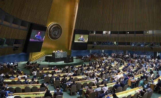 A Assembleia Geral das Nações Unidas.