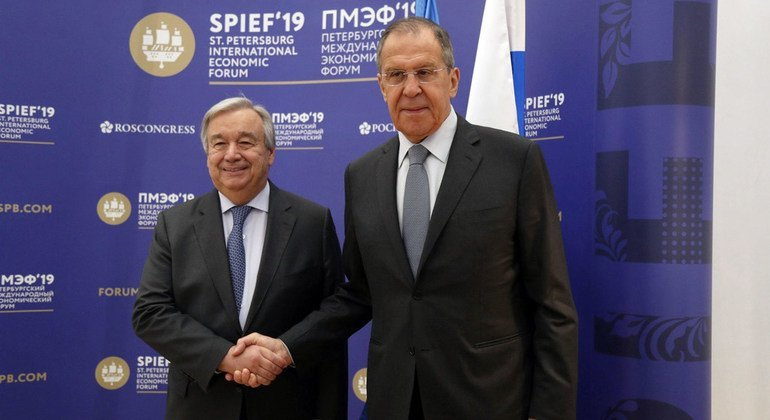 Key economic forum in Russia: New technology a 'vector of hope' but also 'a source of fear' says Guterres